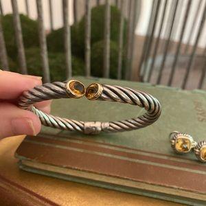 18K/SS Bangle Bracelet